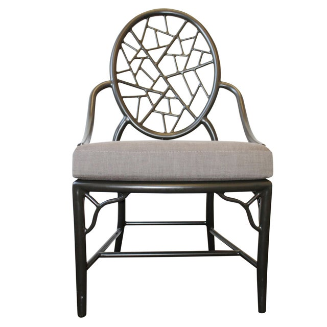 McGuire Cracked Ice Garden Arm Chair - Image 1 of 7
