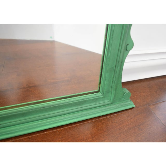 Vintage Green Mirror For Sale - Image 4 of 9