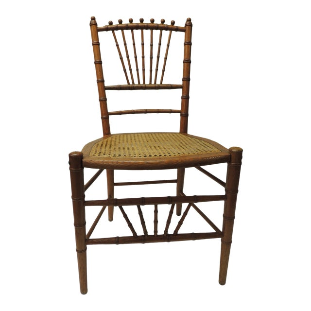 19th Century English Bamboo and Rattan Ballroom Chair For Sale