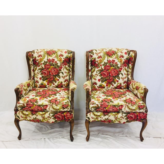 Vintage Floral Chintz Armchairs - A Pair For Sale - Image 11 of 11