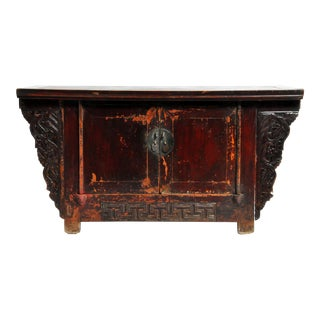 Qing-Dynasty Butterfly Chest With Original Lacquer and Patina For Sale