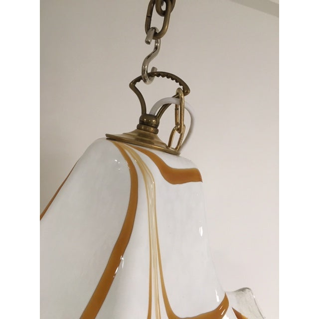 Handkerchief Style Murano Single Pendant Light by Fazzoletto For Sale In West Palm - Image 6 of 12