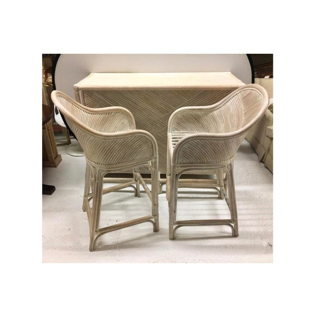 You'll swear you are in Palm Beach, but you're not! Whitewashed three piece dry bar set. Dimensions of bar are below and...