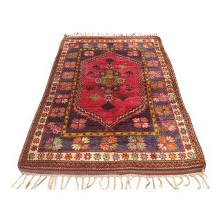 "Vintage Anatolian Area Rug, 1940s - 5'1"" x 7'10"""