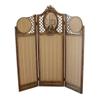 Vintage Decorative French Style Dressing Screen For Sale
