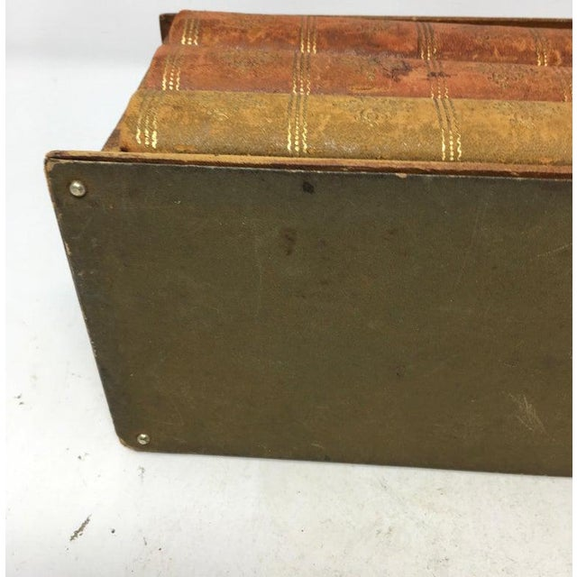 Vintage French Book Style Cigarette Box Desk Organizer For Sale - Image 10 of 12
