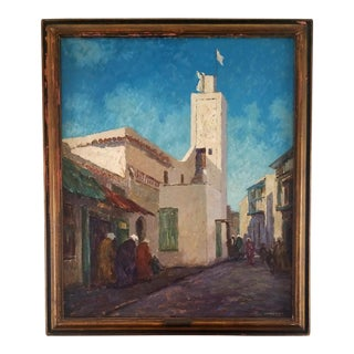 """1926 Vintage Marshall D. Smith """"Muezzin's Call to Prayer"""" Oil on Canvas Painting For Sale"""