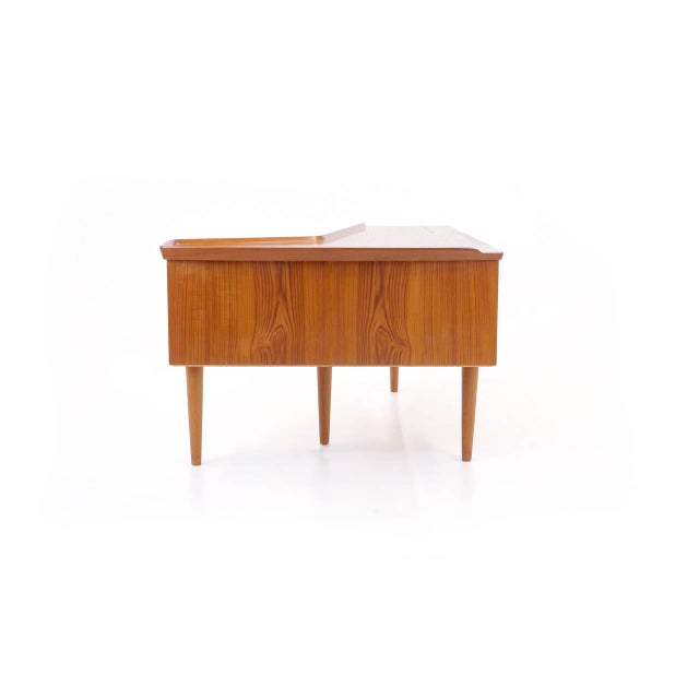 Danish Modern 1950s Danish Modern Arne Vodder Teak Desk With Built in Bar For Sale - Image 3 of 10