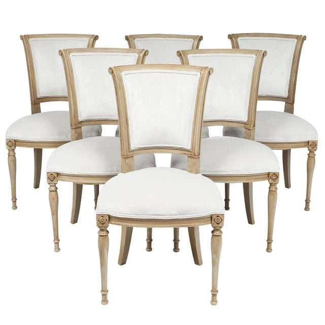 Directoire Style Dining Chairs - set of 6 For Sale - Image 10 of 10