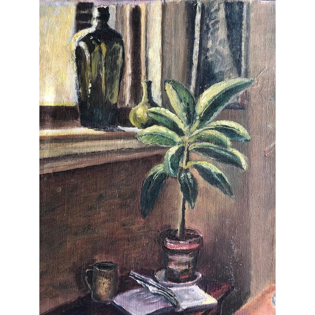 "Realism Sitting Room Still Life Painting Signed ""Bert. Lobberegt 1952"" For Sale - Image 3 of 10"