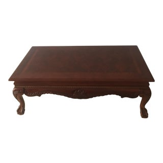 Vintage Claw Foot Inlaid Coffee Table