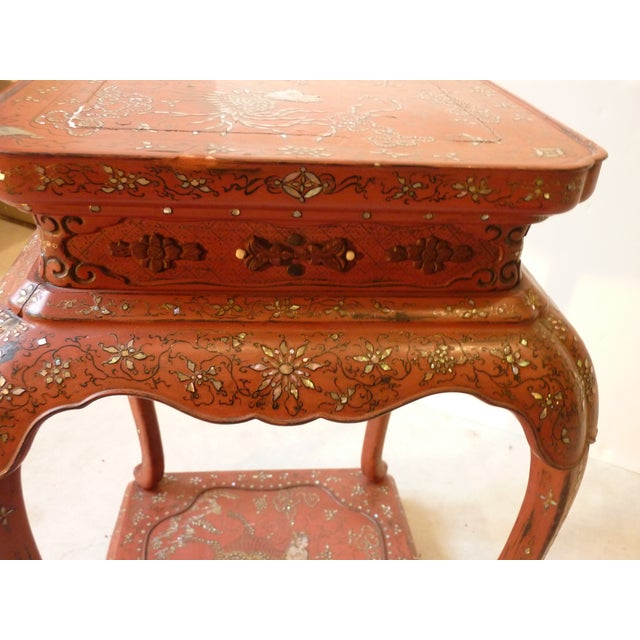 Chinese Laquer Drink Table For Sale - Image 5 of 5