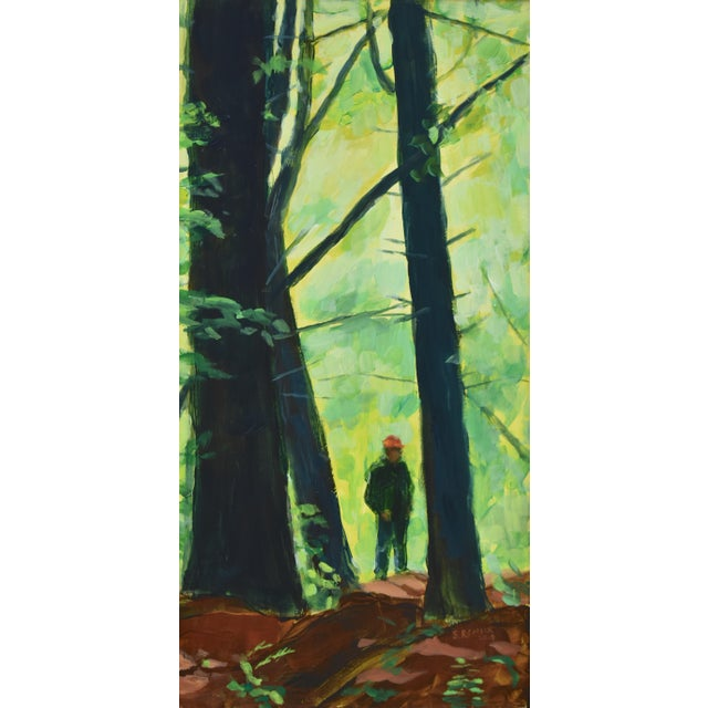 "Contemporary Painting, ""Entering the Forest"", by Stephen Remick For Sale - Image 10 of 10"