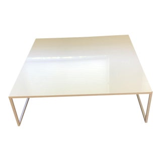 Modern White Square Blu Dot Coffee Table For Sale