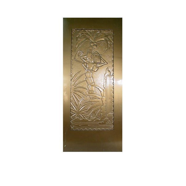"""Art Deco Large 93"""" Tall Gold Coco Bongo Art Deco Prop Door From """"The Mask"""" For Sale - Image 3 of 6"""