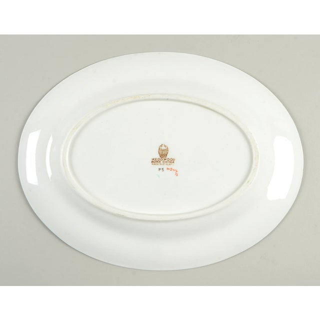 "Wedgwood Wedgwood Florentine Turquoise 11"" Oval Serving Platter For Sale - Image 4 of 6"