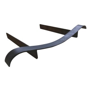 Jean Royère Black Wrought Wave Andiron For Sale