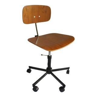 Jørgen Rasmussen for Rabami Danish Teak Kevi Swivel Desk Task Chair For Sale