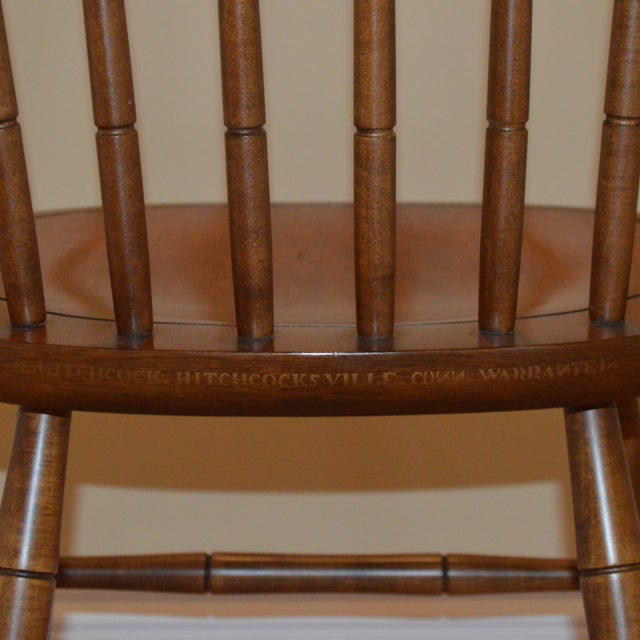 1960s Vintage L. Hitchcock Maple Harvest Dining Side Chair For Sale - Image 5 of 7