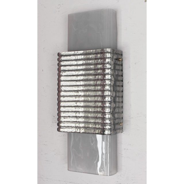 Metal Righe Sconces / Flush Mounts by Fabio Ltd - a Pair For Sale - Image 7 of 11