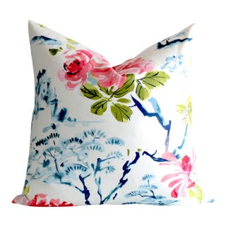 Abstract Asian Floral Pillow