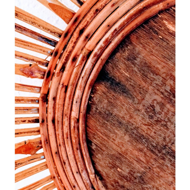 Mid-Century Modern Pencil Reed Bamboo Bowl Centerpiece For Sale - Image 9 of 11