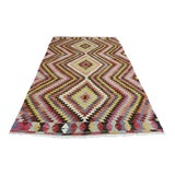 Image of Vintage Turkish Antalya Nomads Kilim Rug- 6′ × 9′4″ For Sale