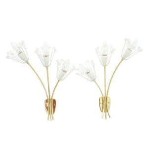 Emil Stejnar Wall Sconces Made by Rupert Nikoll Austria 1960s For Sale