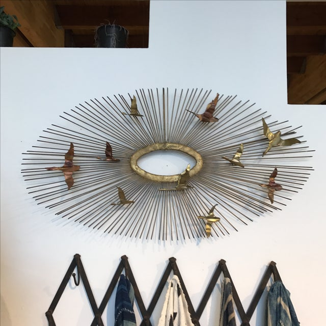 Curtis Jere Sunburst Birds Wall Sculpture - Image 2 of 8