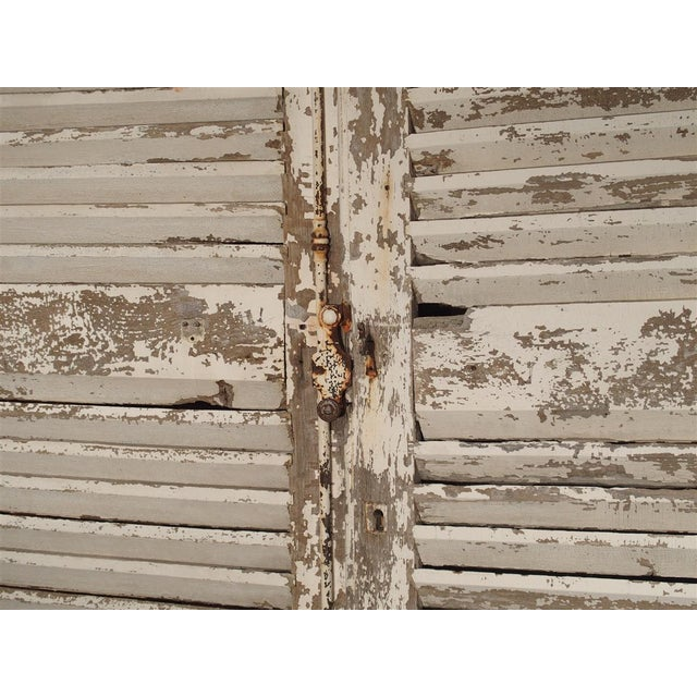Late 19th Century Pair of Large Antique French Door Shutters From a Chateau, 19th Century For Sale - Image 5 of 13
