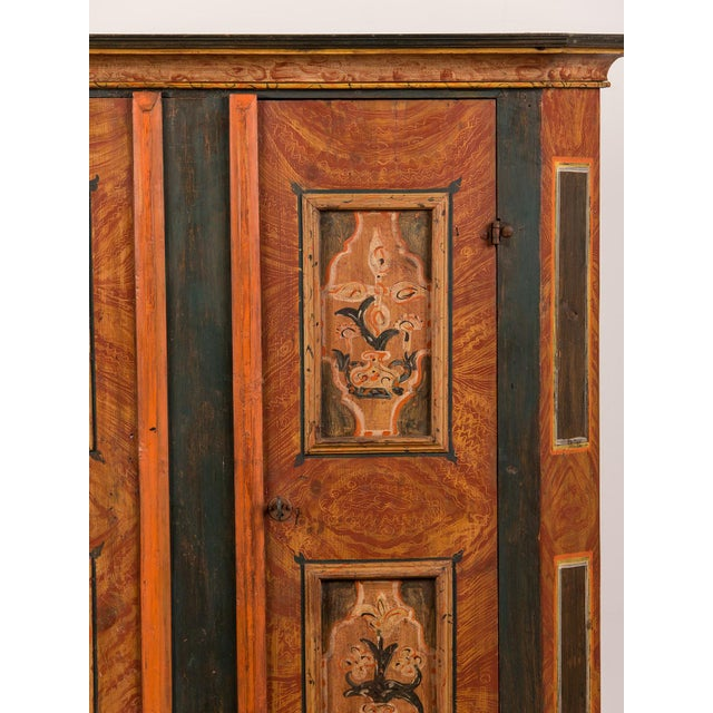Antique German Hand Painted Dowry Cabinet, Two Doors, circa 1800 - Image 11 of 11