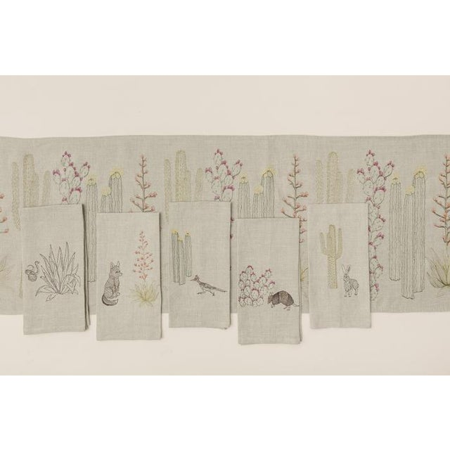 Roadrunner and Organ Pipe Cacti Tea Towel - Image 7 of 9