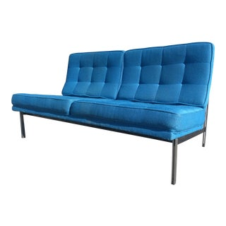 Florence Knoll Parallel Bar Loveseat Settee Sofa