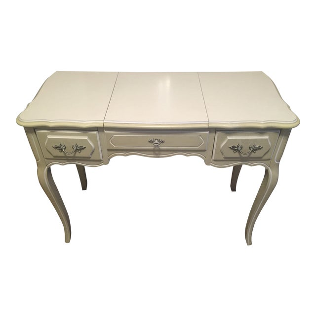 Vanity With Mirror: Vintage 1960s Henry Link French Provincial Bedroom Furniture - 1 of 14 Pieces - Image 1 of 6