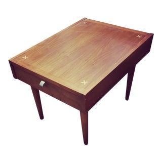 20th Century Danish Modern Merton Gershun Amerrican of Martinsville Walnut Table For Sale