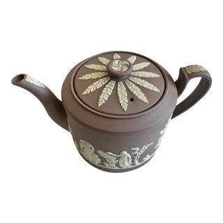 Antique Wedgwood Lilac Jasperware Brewster Tea Pot For Sale