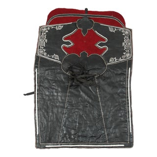 Moroccan Black and Red Horse Saddle Blanket For Sale