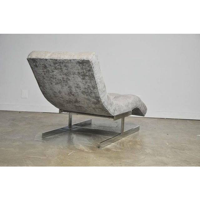 Thayer Coggin Milo Baughman Wave Chaise For Sale - Image 4 of 7