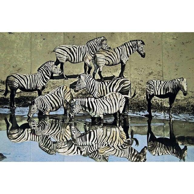 Pop Art Fran Bull Zebras 1980 For Sale - Image 3 of 3