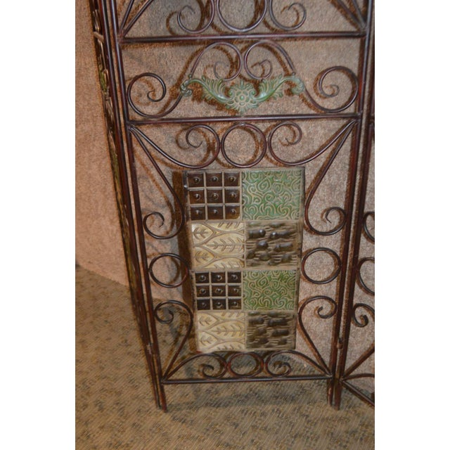 1980s 1980s Vintage 3-Panel Folding Screen For Sale - Image 5 of 13
