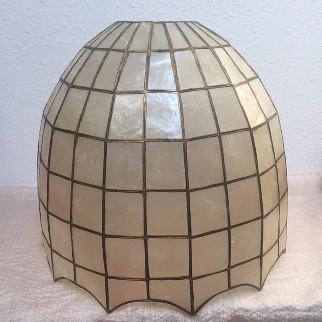 Vintage Capiz Shell Accent Lamp Shades For Sale - Image 6 of 6