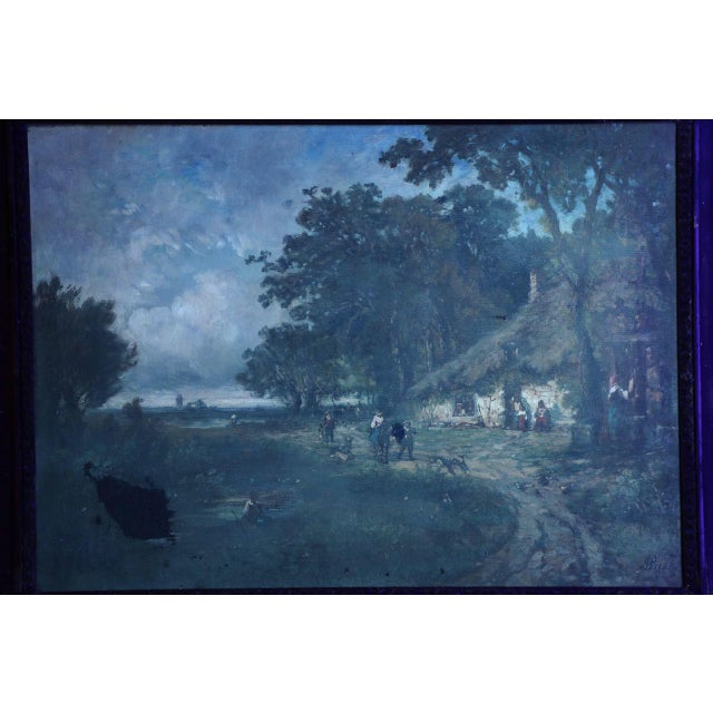Vintage French Barbizon School Landscape Painting of Village - Image 10 of 10