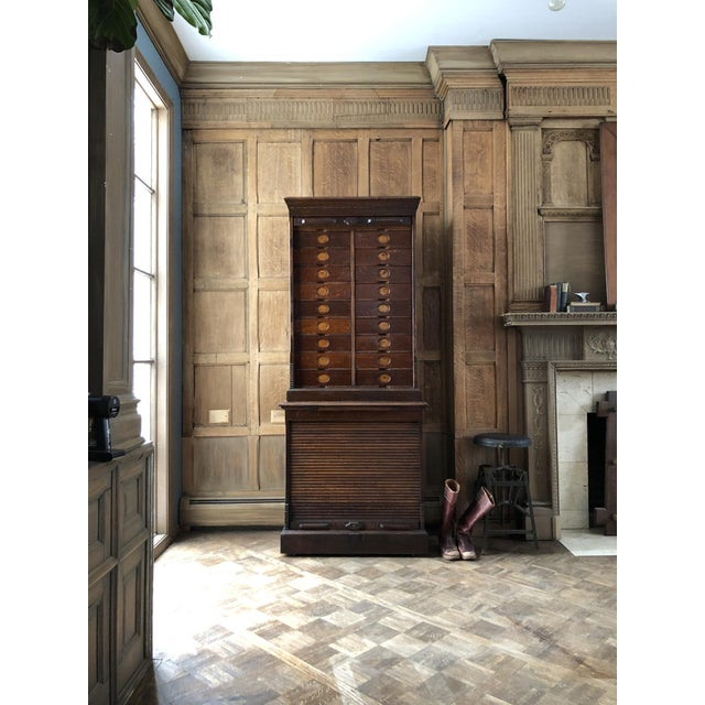 Antique Ambergs File Cabinet For Sale - Image 11 of 11