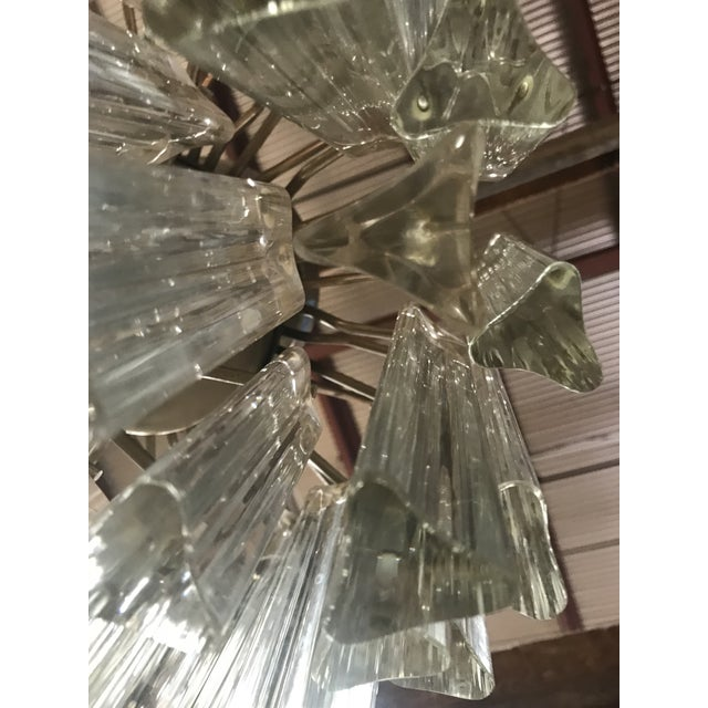 1960s Mid Century Modern Venini Murano Glass Prism Chandelier For Sale In Washington DC - Image 6 of 9