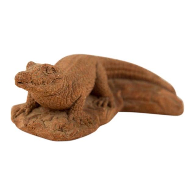 Frostino Gianelli Plaster Crocodile Sculpture For Sale