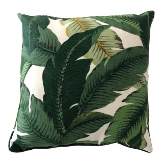 Contemporary SABIN Outdoor Banana Leaf Pillow For Sale