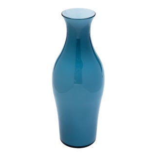 Fortuny by Moretti Madrazo Tall Vase in Blue For Sale
