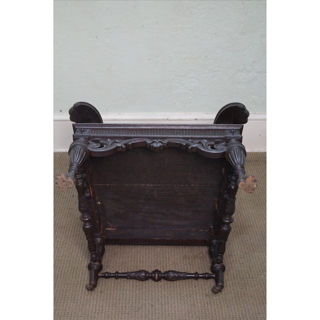Antique 19th Century Carved Oak Throne Chair - Image 6 of 10