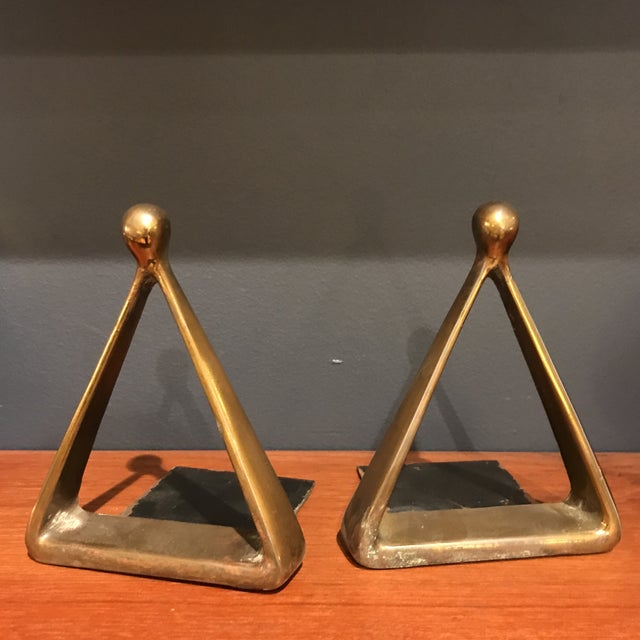 Ben Seibel Brass Bookends - A Pair - Image 4 of 4