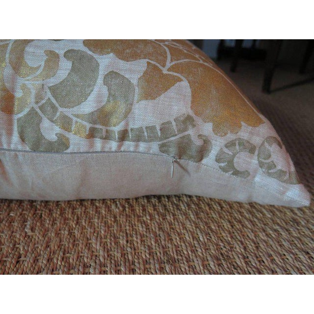 Contemporary Venetian Linen Pillow For Sale - Image 3 of 5